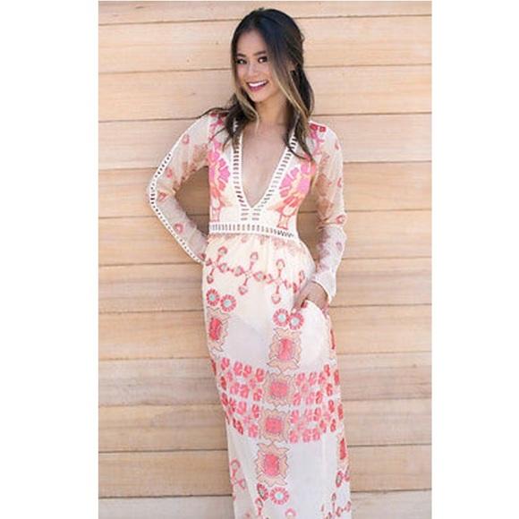 For Love And Lemons Dresses For Love And Lemons Barcelona Maxi Dress Medium Poshmark